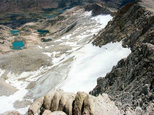 View of the Conness glacier...