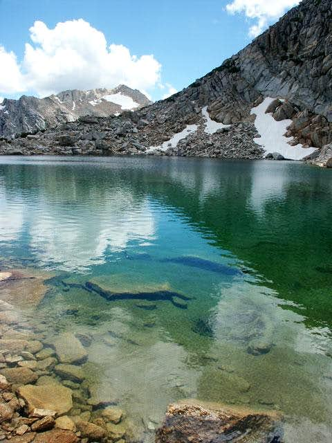 Alpine Lake with White...