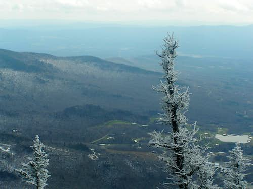 Frosty Landscape from the ledge of the profane. Mount Mansfield, Stowe, VT.