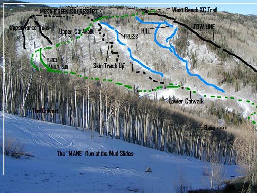 Mesa Creek Ski Map