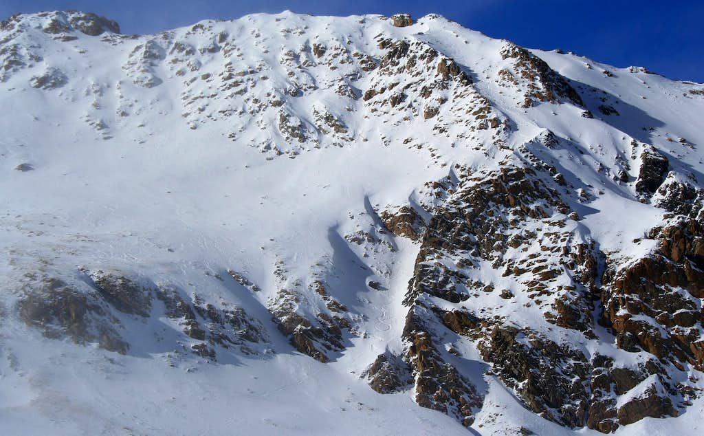 Hagar Mountain's Boomerang Couloir