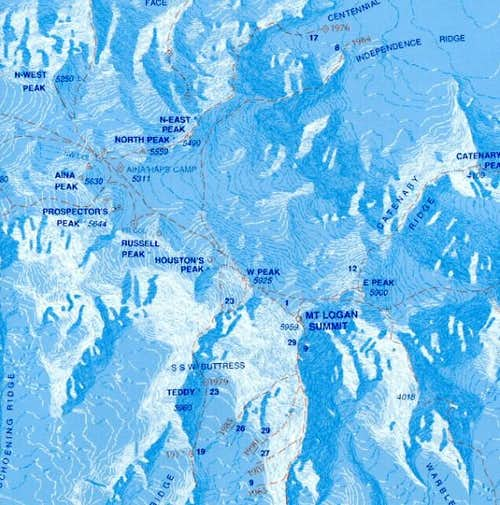 This topo shows most of the...