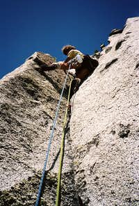 Greg Smith On the South Face of Prusik Peak