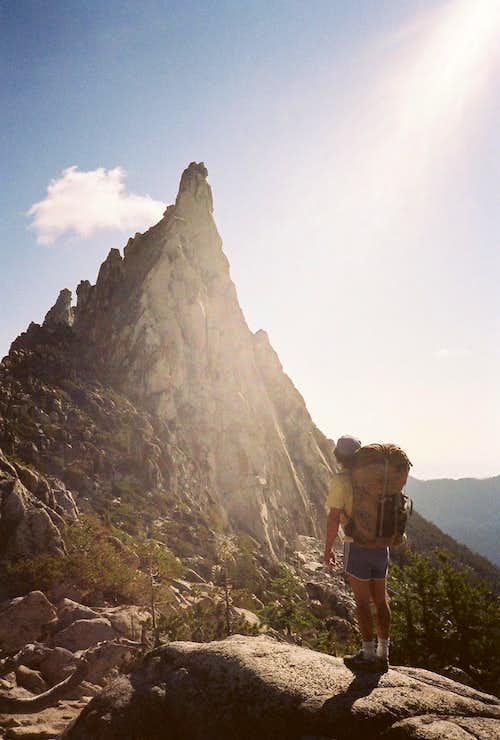 Approaching Prusik Peak, August 1986