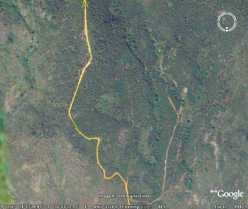 Map of Vumba Trail 3