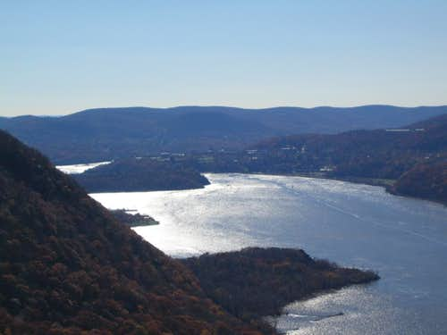 zoomed shot of Hudson River
