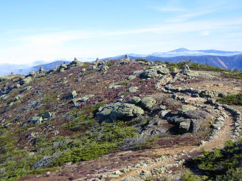 the start of the Franconia Ridge trail
