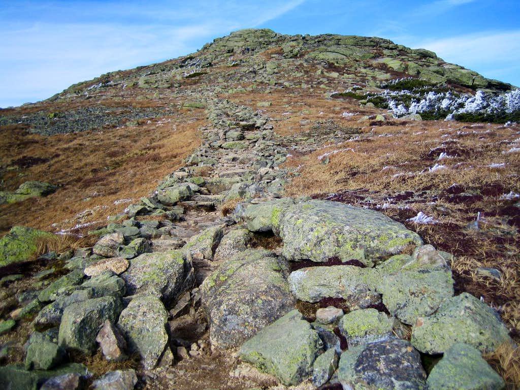 final approach to summit of Mt. Lafayette