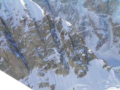 Japanese Couloir from the West Rib