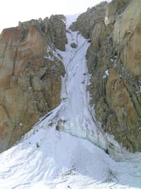 Chicken Couloir - Base of West Rib