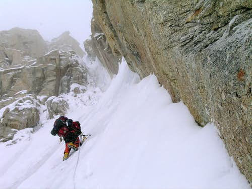Leading into the crux
