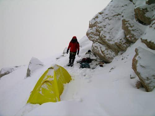 Tent platform at 17,000'