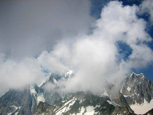 Clouds above Mont Blanc
