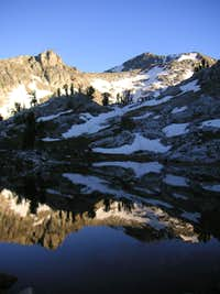 Gros Peak from small pond
