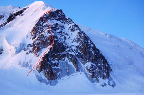Contamine Grisolle (Left Edge) Route on the Tacul Triangle