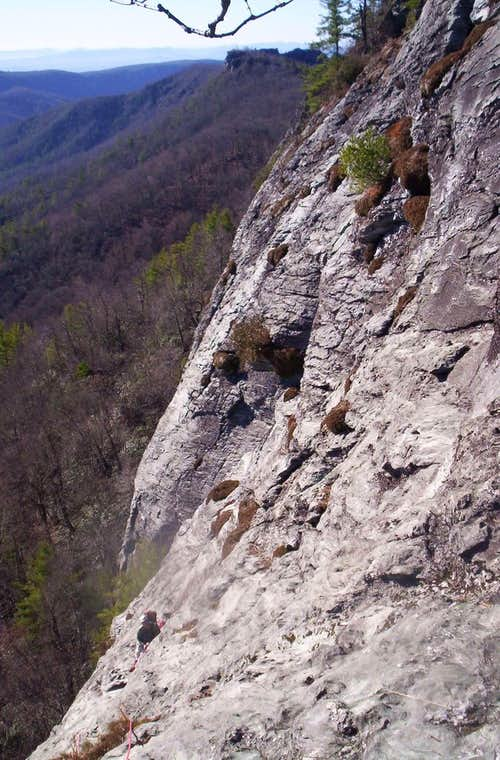Second Belay on Jim Dandy