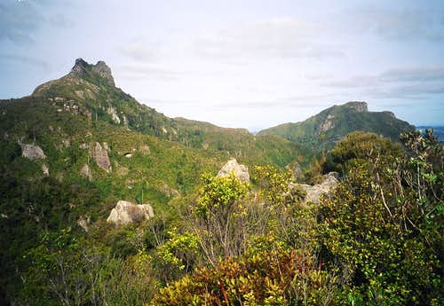 The Pinnacles from the west