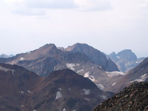 Mount Villard and Glacier Peaks from the summit of Peal