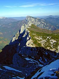 The NE ridge of Veliki vrh