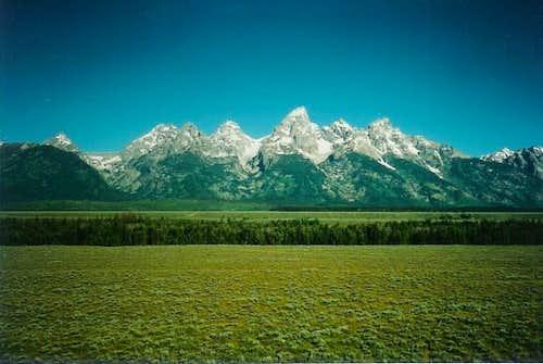 The awesome Teton range on a...