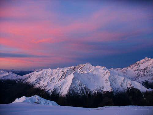 Mont Crammont at dawn