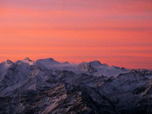 Glacier of Rutor as seen from testa di Liconi