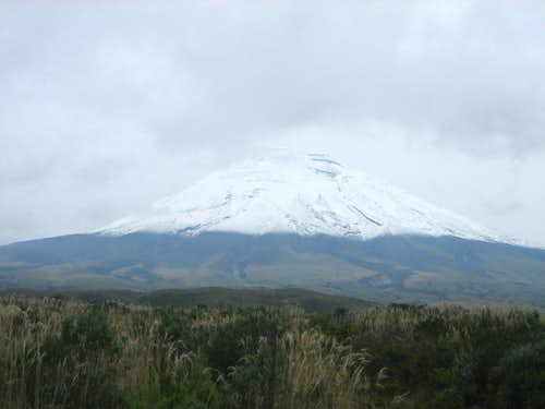 Cotopaxi with fresh snowfall