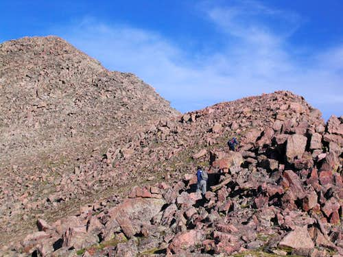 Remainder of Bierstadt s East Ridge route