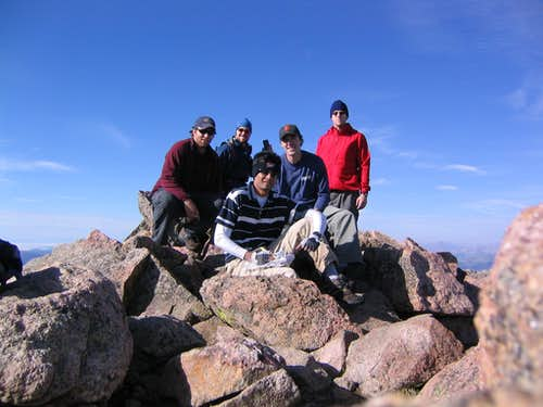 Summit photo on Bierstadt.