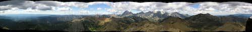Earl Peak summit panorama