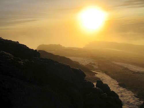 sunrise on Kilimanjaro, 7am.20/11/2006.