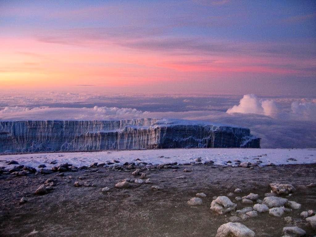 Glacial view, Kilimanjaro.