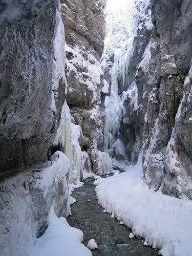 Partnachklamm after heavy snowfall