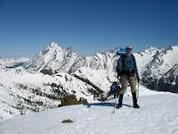 Jim Kuresman on the summit of Earl Peak