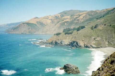 Turquoise Blue Water near Big Sur
