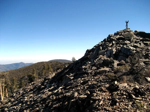 Rocky summit ridge of Shields Peak