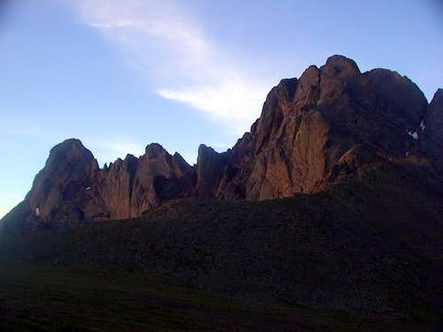Crestone Needle (L) and...