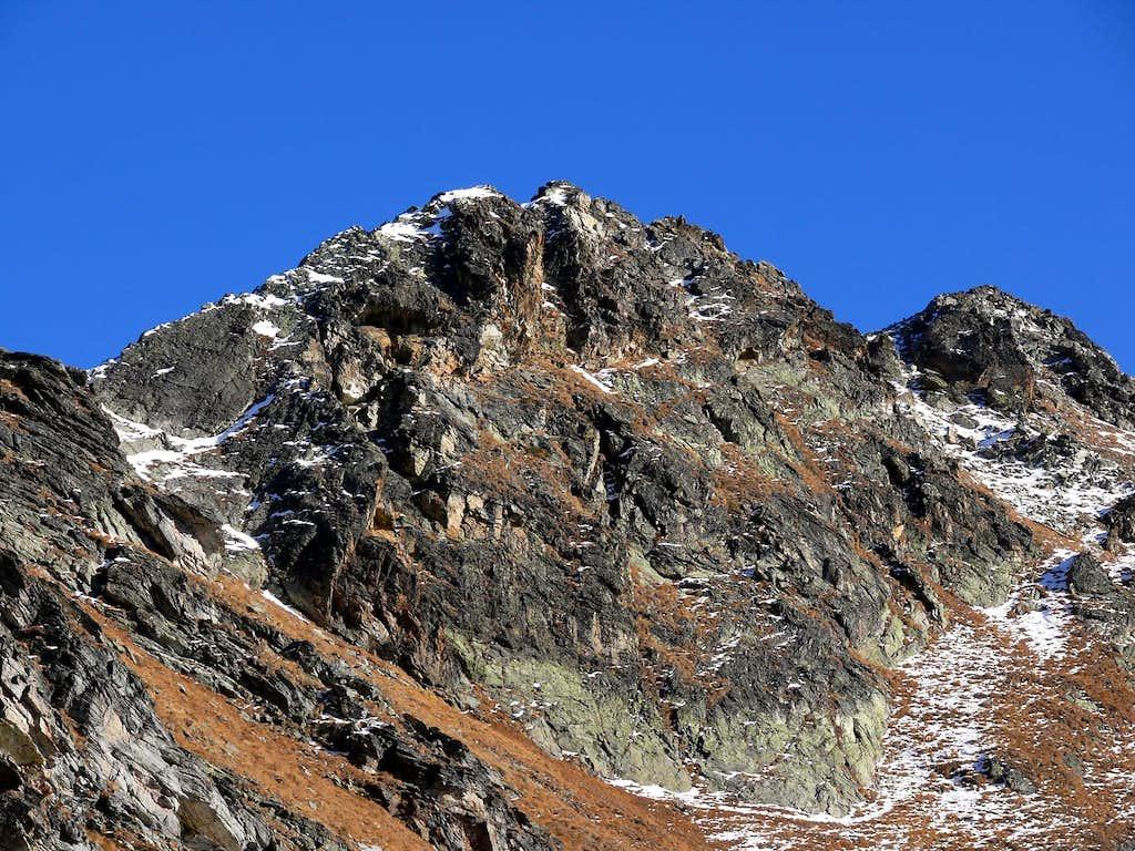 Il versante sud del mont Mary (2815 m)