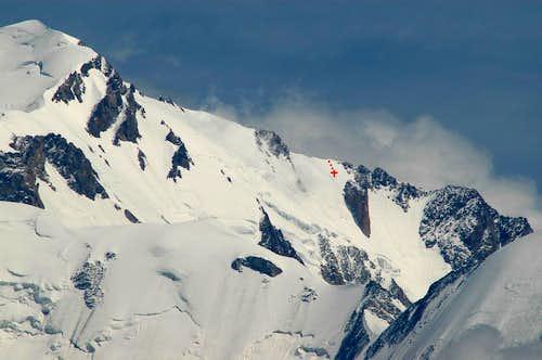 Mont Blanc Brouillard ridge