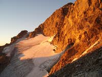 Sunrise on Middle Teton Glacier