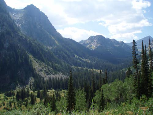 Death Canyon from Static Peak Divide
