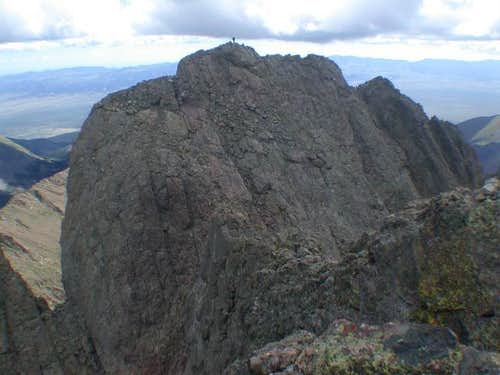 The lower east peak of...