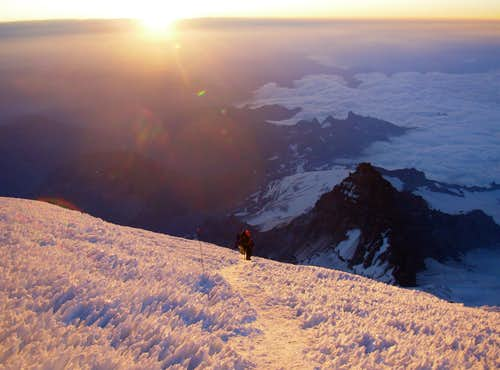 Sunrise above Dissapointment Cleaver