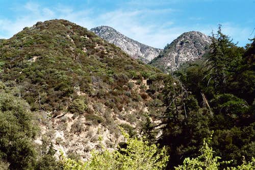 Strawberry Peak (middle) from Colby Canyon Trailhead