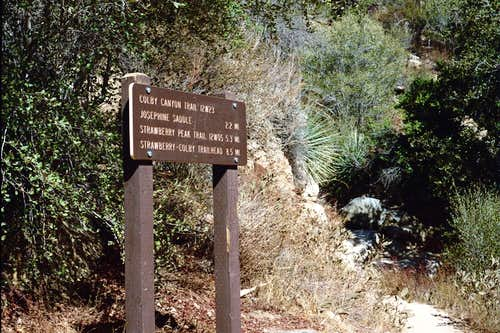 Destinations from Colby Canyon Trailhead