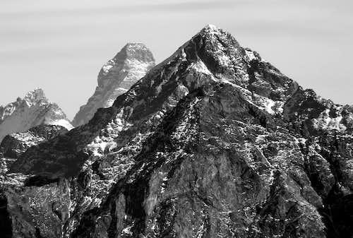 Il versante sud ovest della becca di Luseney (3504 m)