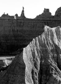 B&W of Badlands