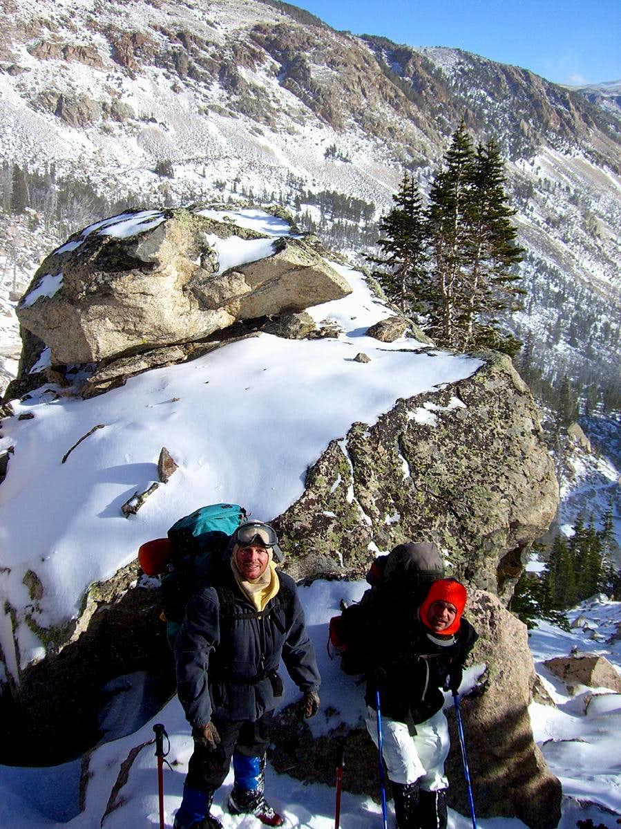 On trail near Glacier Lake