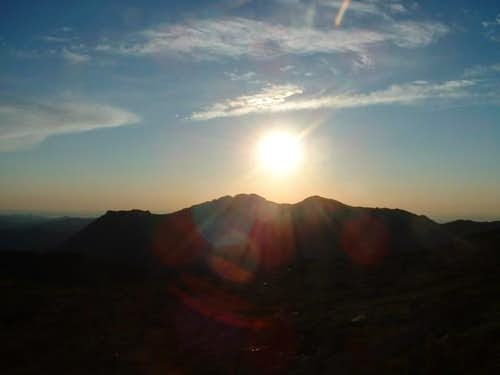 Sunrise over the Twin Sisters...