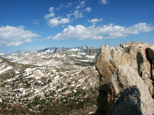Jagged summit ridge of...
